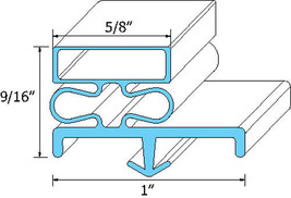 "GASKET DOOR 20 7/8"" X 22 3/4"" Snap-In Mount Gray for Victory VUR-4-18BT 741186 - $62.00"
