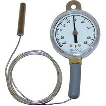 "THERMOMETER BULB 2.25"" CAP 48""TEMP -40 TO 65 MOUNT STRAP HANGER NICKEL 6... - $58.00"