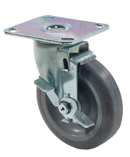 "CASTER 5"" With Brake Plate 300# Heavy Duty NEW 35595"