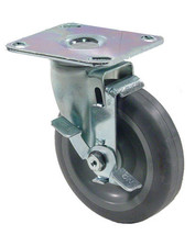 "CASTER 5"" With Brake Plate 300# Heavy Duty NEW 35595 - $32.00"