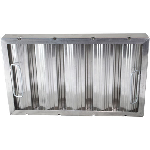 "BAFFLE-TYPE GREASE FILTER W/Handles Galvanized 10"" X 20"" X 2"" for CHG 261765"