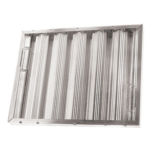 "BAFFLE-TYPE GREASE FILTER W/Handles Galvanized 16"" X 25"" X 2"" for CHG 261767"