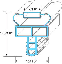 "GASKET DOOR 24-1/4"" X 24-1/4"" Push-In Gray Randell 8148N 8268N 8395 8395... - $49.00"