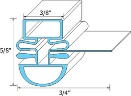 "DOOR GASKET 24 1/2"" X 27"" Magnetic Dart Mount for Turbo Air TPR67SD 741240 - $34.00"