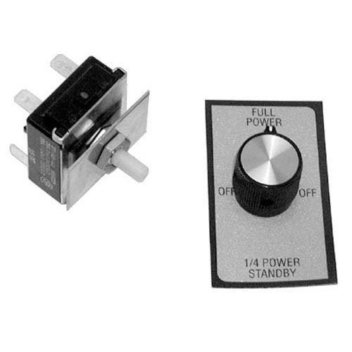 "ROTARY SWITCH KIT 3/8"" DPDT CTR-OFF for Star Holman Oven 210 Toaster B710 421173"