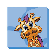 Kid Kusion Preschool Daycare Giraffe Blue Zoo ... - $55.99