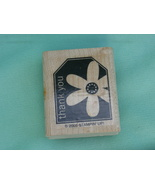 Thank You with Flower Gift Tag Style Rubber Stamp by STAMPIN' UP! 2005 - $2.99