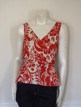 Diane Von Furstenberg Stein Damask Framboise Silk Top Blouse    Us 10   Uk 14 - $91.79