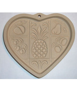 Pampered Chef Heart Shape Cookie Mold 2001 Hospitality Heart Pineapple #... - $9.99