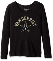 Medium NCAA Vanderbilt Commodores Women's Long Sleeve Quad Fleece Shirt Black