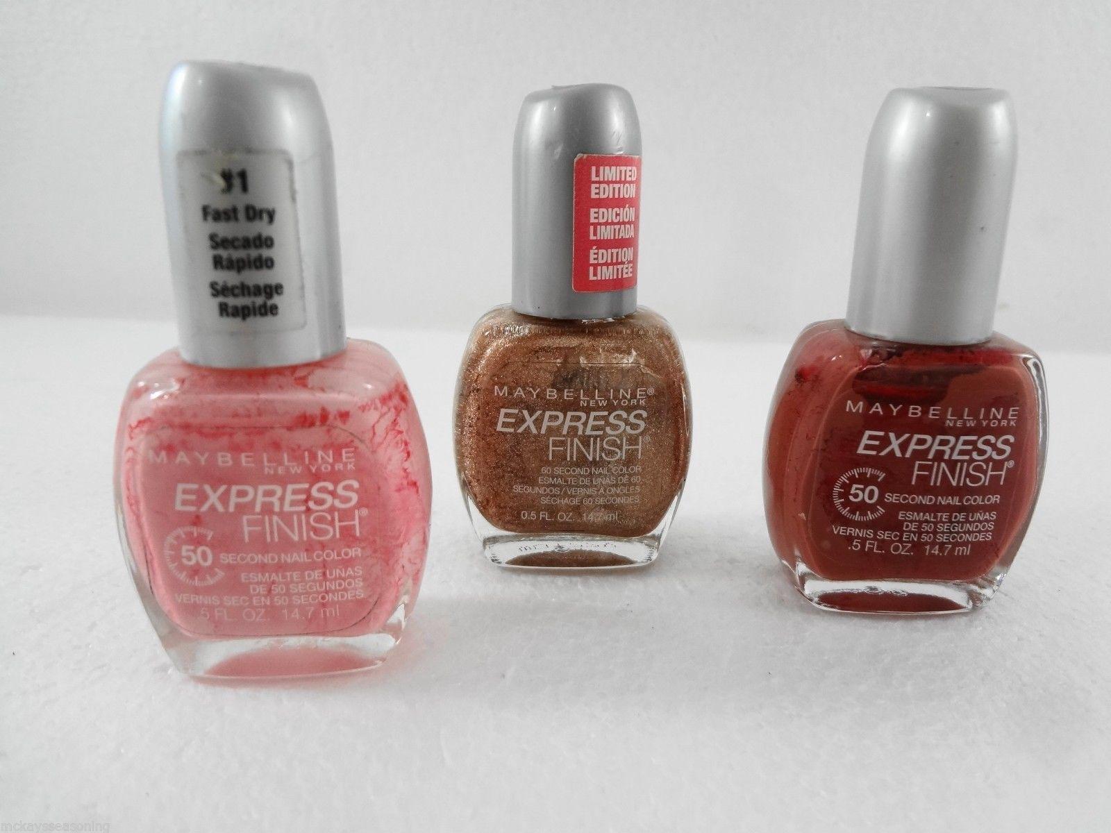 Maybelline Ny Express Finish Lot 3 Nail And 50 Similar Items