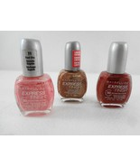 Maybelline NY Express Finish Lot 3 Nail Polish Passing Pink Bronze Drago... - $23.03