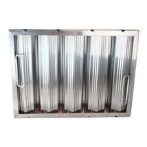 FILTER GREASE 12 X 20 X 2 Baffle-Type W/Handles Stainless Steel Seamless... - $137.00