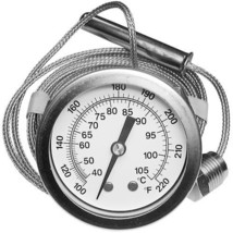 "THERMOMETER GAUGE Temp 100 TO 200 F W/2"" DIAL Hobart Dishwasher 437041-3... - $147.00"