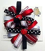 "Hair Bows - 2-1/4"" Ladybug Red, Black, White - $6.99"