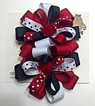 """Hair Bows - 2-1/4"""" Hair Clip Red, Black, White - $6.99"""