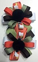 "Hair Bows - 2-1/4"" Barrette Halloween Colors - $6.99"