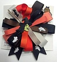 "Hair Bows - 3"" Barrette Halloween Colors - $6.49"