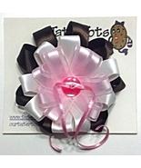"Hair Bow - 2-1/4"" Satin Ribbon Trendy Clip - $0.00"
