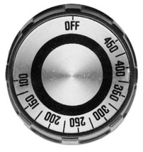 """DIAL 2"""" DIA OFF 450-100 Black & Silver for Lang Grill LG-24 Oven ECO-8M 221279 - $58.00"""