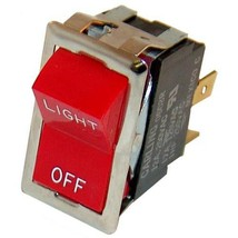 Black Rocker Switch Fits 7/8 X 1 1/2 Hole Dpst For Montague Oven 115 Aei 421310 - $48.00