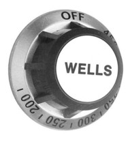 KNOB 2-3/8 D Grey & Silver OFF-450-200 for Wells Grill G13 G15 G23 G60 221181 - $49.00