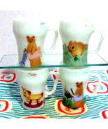 4 Rare Fire King  Cute Character Mugs - One of a Kind - $79.00