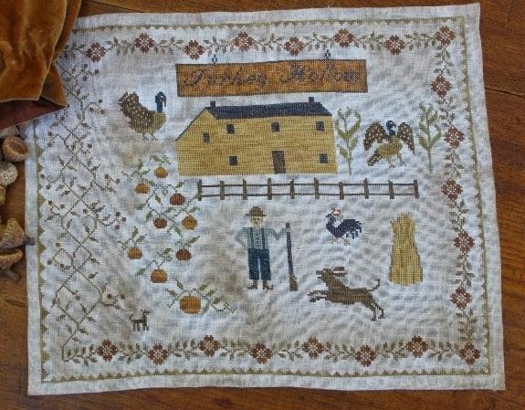 Berry's Chapel Road series - Turkey Hollow Farm Sampler Stacy Nash Primitives  - $12.60
