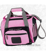 Pink Cooler Bag with Zip-Out Liner Zip Main Compartment Lunch Bag Water ... - $21.99