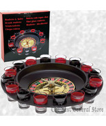 16-Shot Roulette Wheel Adult Party Game Bar Drinking Set Camping Novelty... - $24.99