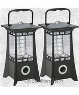 Two (2) Variable 24-Bulb LED Decorative Pagoda Style Lantern Yard Party ... - $31.78