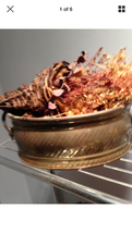 Metal basket with dried flowers & citrus potpourri - $39.99