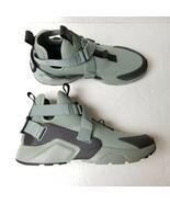Nike Air Huarache City Utility Sneakers Shoes Womens 12 Green Gray AQ008... - $56.06