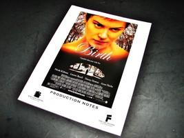 2004 BIRTH Movie PRESS KIT PRODUCTION NOTES HANDBOOK Promotional Nicole ... - $10.99