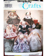 """Sewing Pattern 7707 Decorative Rabbits & Clothes 14"""" - $3.99"""