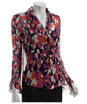 DIANE von FURSTENBERG TIMMY FALLING RAIN TOP BLOUSE - US 0 - UK 4 - $106.29