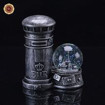 WR Decorative Water Snow Globe Light Up Mailbox Post Box Glitter Glass K... - $21.16
