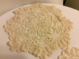 Battemburg Doilies Round 10 in Diameter Set Of Two 100%Cotton - $16.95