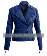 NWT Blue Brando Women Ladies Sexy Stylish Premium Synthetic Leather Jacket - $129.99