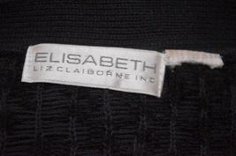 Elisabeth Liz Claiborne Plus Size 1X Black Sweater V Neck Long Sleeve Pullover image 5