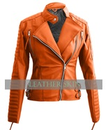 NWT Orange Brando Women Ladies Sexy Stylish Premium Synthetic Leather Ja... - $129.99