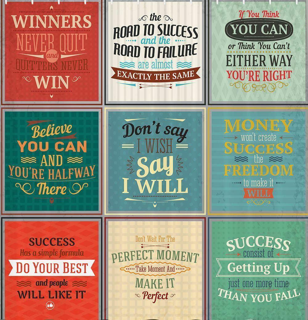 Inspirational Quote Fabric Shower Curtain Inspiring Goals
