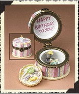 "Boyds Treasure Box ""Bailey's Birthday Cake w/ H.B. McNibble"" #392144- NI... - $23.99"