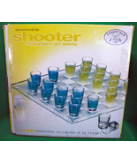 Essentials Hand Crafted Checkerboard Shot Glass Bar Set - $5.95