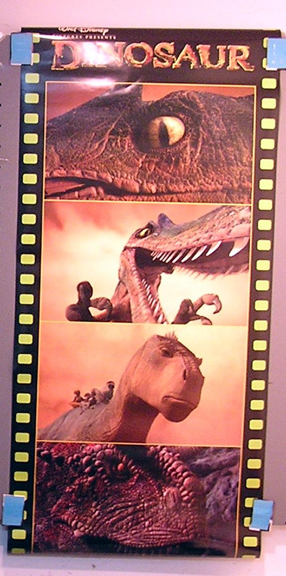 Disney's DINOSAUR movie poster + chroma print
