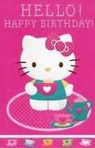 "Greeting Card Birthday Hello Kitty ""Hello Happy Birthday"" - $4.99"