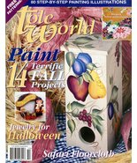Tole Painting Magazine Tole World Oct. 1999 Halloween Jewelry Freehandin... - $4.95