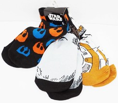 DISNEY STAR WARS 3 PACK 1 SET LOW CUT SOCKS ADULT SHOE SZ 7-12 HYP 2016 ... - $9.88