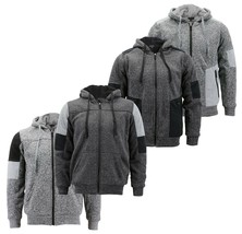 Boy's Soft Sherpa Lined Two Tone Quilted Juniors ZipUp Fleece Hoodie Kids Jacket image 1