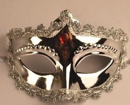 Venetian Goddess Masquerade Mask with High Fashion Macrame Lace & Diamonds mk06 - $19.99